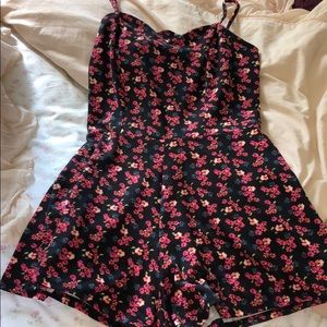 Floral Romper with Heart Detail